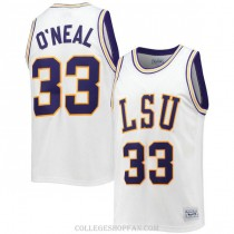 Mens Shaquille Oneal Lsu Tigers #33 Swingman White College Basketball Jersey