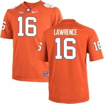 Mens Trevor Lawrence Clemson Tigers #16 Authentic Orange Colleage Football Jersey 102