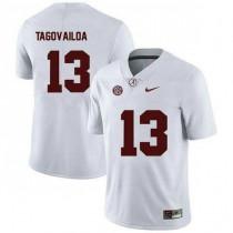 Mens Tua Tagovailoa Alabama Crimson Tide #13 Authentic White Colleage Football Jersey 102