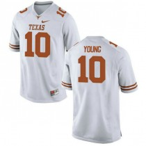 Mens Vince Young Texas Longhorns #10 Authentic White Colleage Football Jersey 102