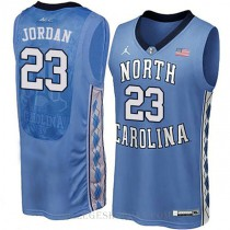 Michael Jordan North Carolina Tar Heels #23 Authentic College Basketball Youth Jersey Blue