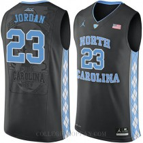 Michael Jordan North Carolina Tar Heels #23 Authentic College Basketball Youth Jersey Unc Black