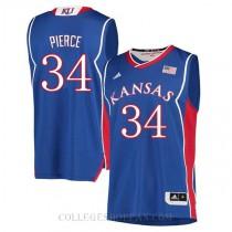Paul Pierce Kansas Jayhawks #34 Authentic College Basketball Mens Jersey Blue