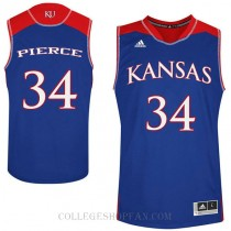Paul Pierce Kansas Jayhawks #34 Authentic College Basketball Mens Jersey Royal