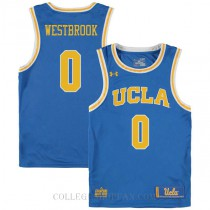 Russell Westbrook Ucla Bruins 0 Authentic College Basketball Mens Jersey Blue