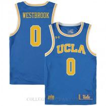 Russell Westbrook Ucla Bruins 0 Swingman College Basketball Womens Jersey Blue