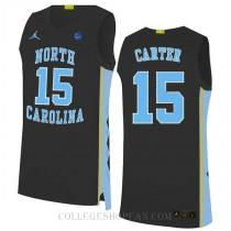 Vince Carter North Carolina Tar Heels #15 Authentic College Basketball Womens Jersey Black