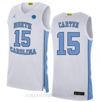 Vince Carter North Carolina Tar Heels #15 Authentic College Basketball Womens Jersey Blue