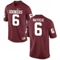 Womens Baker Mayfield Oklahoma Sooners #6 Authentic Red College Football Jersey 102