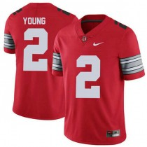 Womens Chase Young Ohio State Buckeyes #2 Champions Limited Red College Football Jersey 102