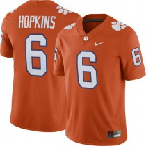 Womens Deandre Hopkins Clemson Tigers #6 Authentic Orange Colleage Football Jersey 102