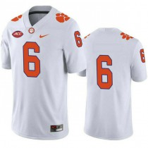 Womens Deandre Hopkins Clemson Tigers #6 Authentic White Colleage Football Jersey No Name 102