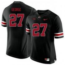 Womens Eddie George Ohio State Buckeyes #27 Authentic Black College Football Jersey 102
