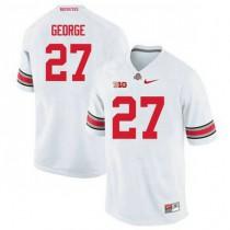 Womens Eddie George Ohio State Buckeyes #27 Authentic White College Football Jersey 102