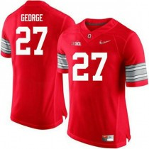 Womens Eddie George Ohio State Buckeyes #27 Champions Authentic Red College Football Jersey 102