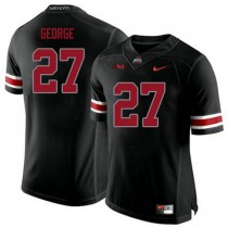 Womens Eddie George Ohio State Buckeyes #27 Game Black College Football Jersey 102