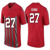Womens Eddie George Ohio State Buckeyes #27 Throwback Game Red College Football Jersey 102
