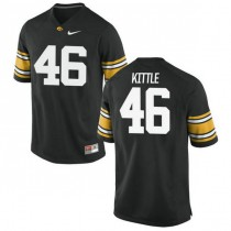 Womens George Kittle Iowa Hawkeyes #46 Authentic Black College Football Jersey 102