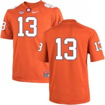 Womens Hunter Renfrow Clemson Tigers #13 Authentic Orange Colleage Football Jersey No Name 102
