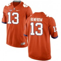 Womens Hunter Renfrow Clemson Tigers #13 New Style Game Orange Colleage Football Jersey 102