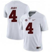 Womens Jerry Jeudy Alabama Crimson Tide #4 Authentic White Colleage Football Jersey 102