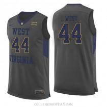Womens Jerry West West Virginia Mountaineers #44 Swingman Gray College Basketball Jersey