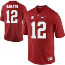 Womens Joe Namath Alabama Crimson Tide #12 Authentic Red Colleage Football Jersey 102