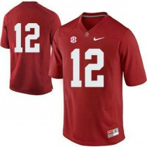 Womens Joe Namath Alabama Crimson Tide #12 Authentic Red Colleage Football Jersey No Name 102