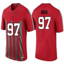 Womens Joey Bosa Ohio State Buckeyes #97 Throwback Authentic Red College Football Jersey 102