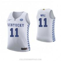 Womens John Wall Kentucky Wildcats #11 Authentic White College Basketball Jersey