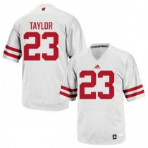 Womens Jonathan Taylor Wisconsin Badgers #23 Authentic White Colleage Football Jersey 102