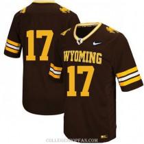 Womens Josh Allen Wyoming Cowboys #17 Authentic Black College Football Jersey