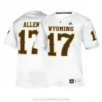 Womens Josh Allen Wyoming Cowboys #17 Limited White College Football Jersey