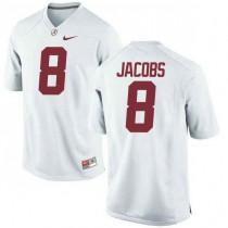 Womens Josh Jacobs Alabama Crimson Tide #8 Game White Colleage Football Jersey 102