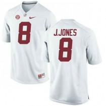 Womens Julio Jones Alabama Crimson Tide #8 Authentic White Colleage Football Jersey 102