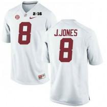 Womens Julio Jones Alabama Crimson Tide Authentic 2016th Championship White College Football Jersey 102