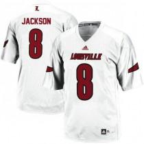 Womens Lamar Jackson Louisville Cardinals #8 Authentic White College Football Jersey 102