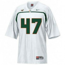 Womens Michael Irvin Miami Hurricanes #47 Authentic White College Football Jersey 102