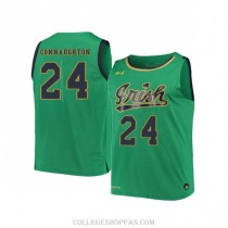 Womens Pat Connaughton Notre Dame Fighting Irish #24 Authentic Green College Basketball Jersey