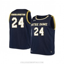 Womens Pat Connaughton Notre Dame Fighting Irish #24 Authentic Navy College Basketball Jersey