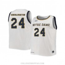 Womens Pat Connaughton Notre Dame Fighting Irish #24 Authentic White College Basketball Jersey