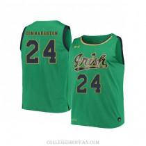 Womens Pat Connaughton Notre Dame Fighting Irish #24 Swingman Green College Basketball Jersey