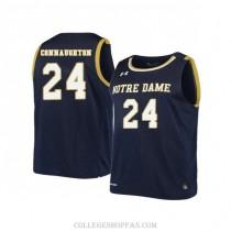 Womens Pat Connaughton Notre Dame Fighting Irish #24 Swingman Navy College Basketball Jersey