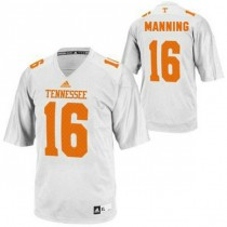 Womens Peyton Manning Tennessee Volunteers #16 Adidas Game White Colleage Football Jersey 102
