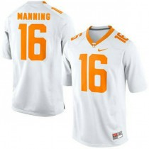 Womens Peyton Manning Tennessee Volunteers #16 Authentic White Colleage Football Jersey 102