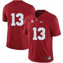 Womens Tua Tagovailoa Alabama Crimson Tide #13 Authentic Red Colleage Football Jersey No Name 102