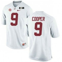 Youth Amari Cooper Alabama Crimson Tide Limited 2016th Championship White College Football Jersey 102