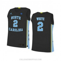Youth Coby White North Carolina Tar Heels #2 Authentic Black College Basketball Unc Jersey