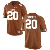 Youth Earl Campbell Texas Longhorns #20 Authentic Orange Colleage Football Jersey 102