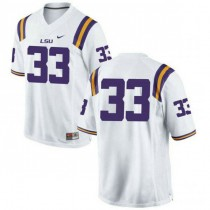 Youth Jamal Adams Lsu Tigers #33 Authentic White College Football Jersey No Name 102
